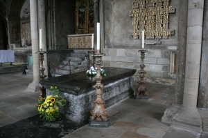 Bede's Tomb at Durham Cathedral