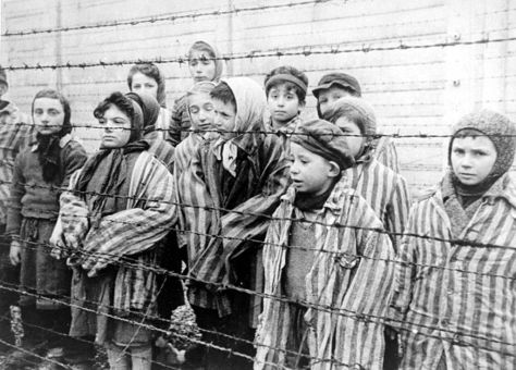 Young survivors of Auschwitz, January 1945. Most children under 15 were gassed right away. Anne had just turned 15 a couple months before her arrest.