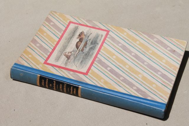 1940s-vintage-Alice-in-Wonderland-special-edition-book-color-Tenniel-illustrations-Laurel-Leaf-Farm-item-no-z713130-1