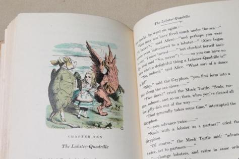 1940s-vintage-Alice-in-Wonderland-special-edition-book-color-Tenniel-illustrations-Laurel-Leaf-Farm-item-no-z713130-4