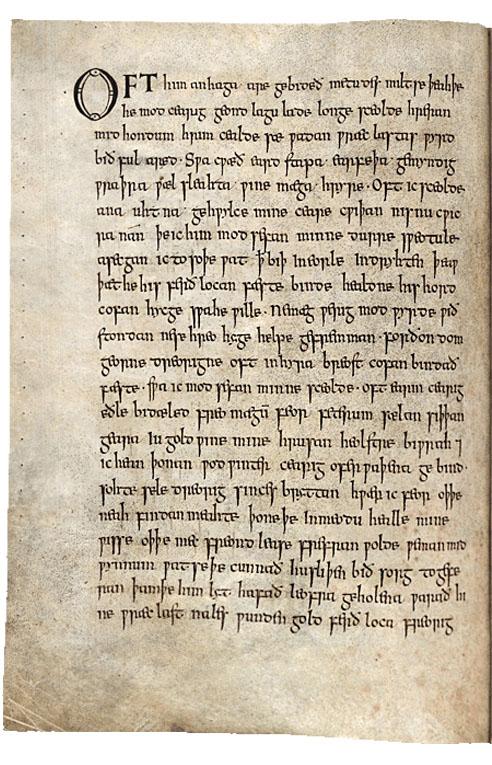 Wanderer-Exeter-Book-first-page-Bernard-Muir